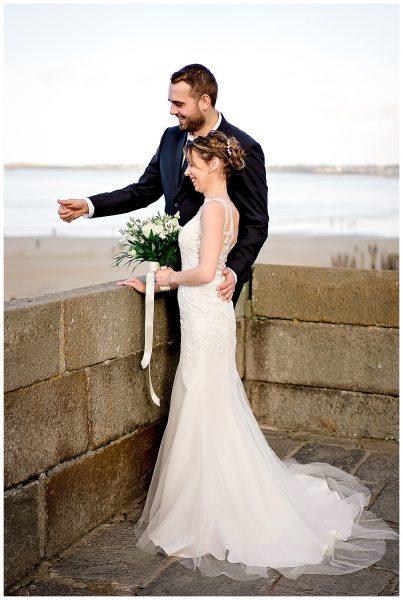 mia dans la lune, mariage d'hiver à Saint Malo