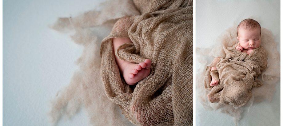 mia dans la lune, photographie de nouveau-né