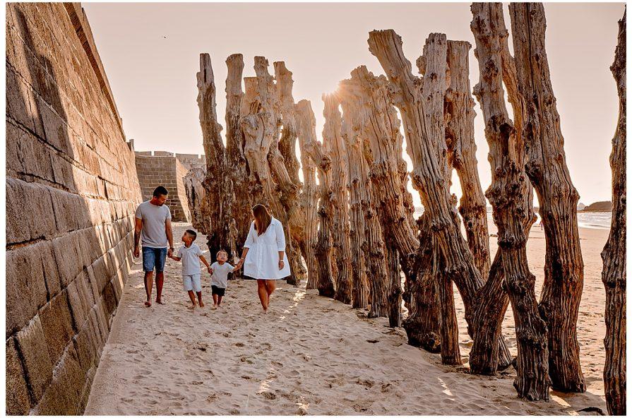 en famille Saint Malo, les brises lames