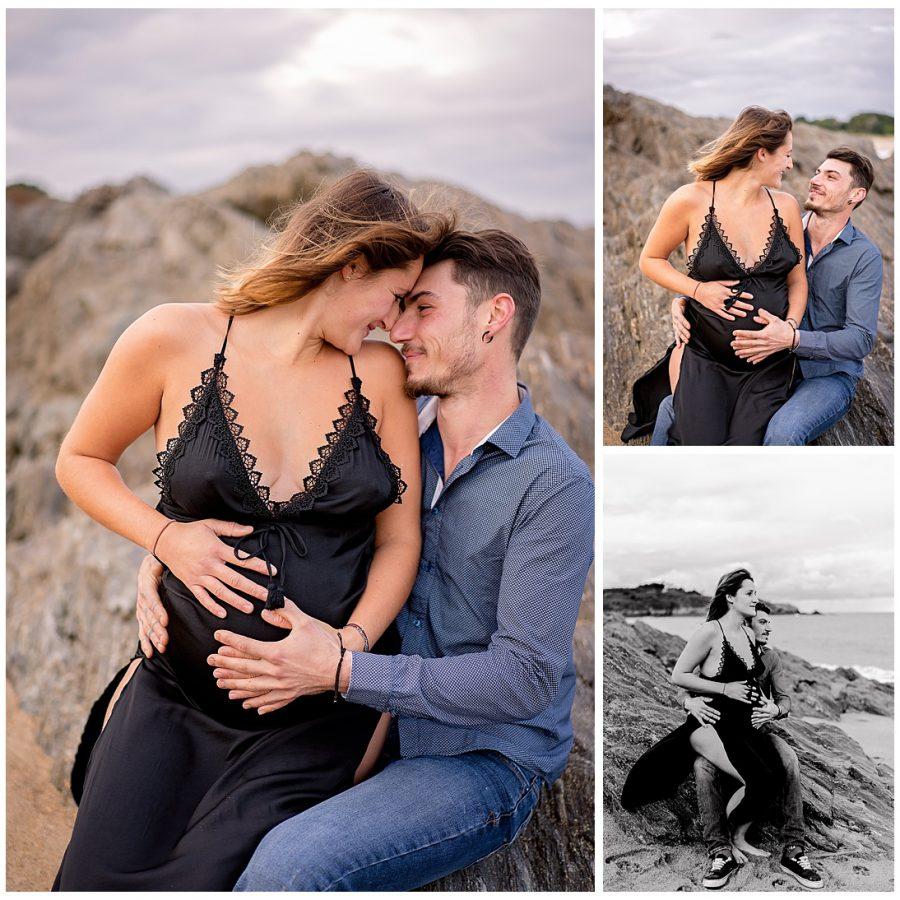 mia dans la lune, Saint Malo, grossesse séance en amoureux