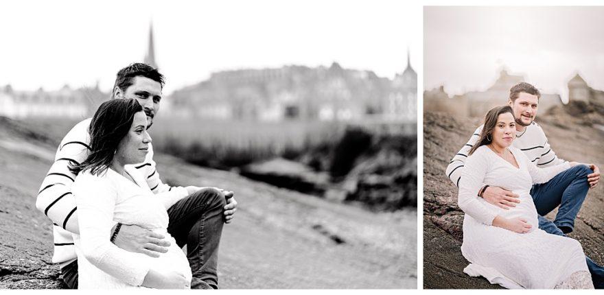 mia dans la lune, Saint Malo, séance grossesse sillon